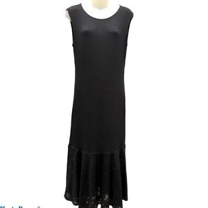 NOIR ANKLE LENGTH TANK DRESS WITH LACE